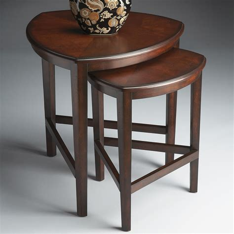 nesting accent tables butler nesting tables chocolate end tables at hayneedle