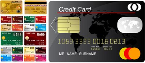 credit card template coreldraw free vector