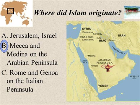 how did s originate the muslim world ppt