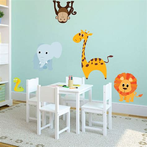 animal wall stickers nursery zoo wall decal animal wall decal murals