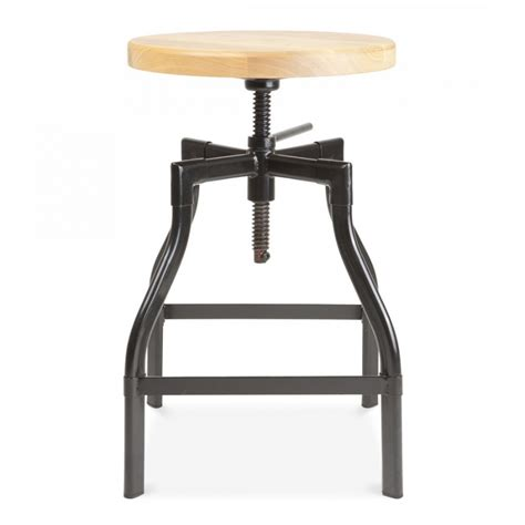Black Swivel Stool by Turner Industrial Swivel Stool In Black 45cm Bar Stools