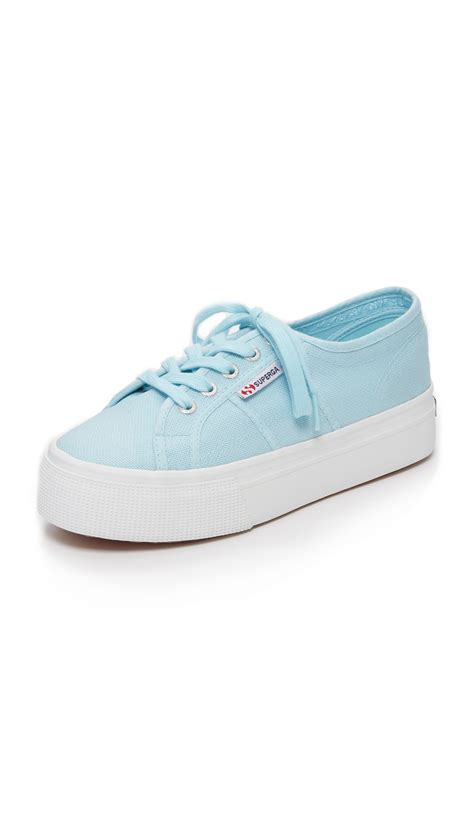 superga platform sneakers superga 2790 platform sneakers in blue lyst