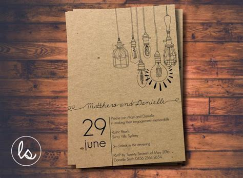 Paper To Make Invitations - diy printable light pendant rustic invitation