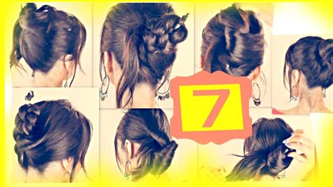 2 minute hairstyles for medium length hair seven 1 minute hairstyles with just a pencil easy updo