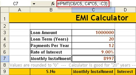 housing loan payment calculator how to calculate emi download excel emi calculator naveen s blog