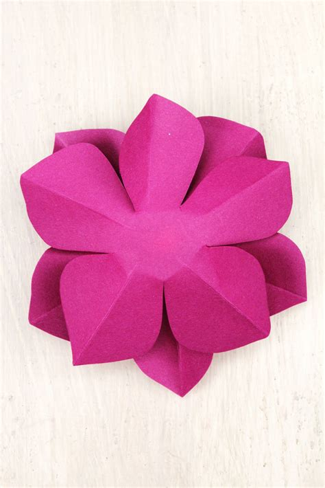 diy paper flower template icing designs diy paper flowers