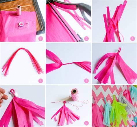 How To Make Tissue Paper Tassels - ruff draft how to make tissue paper fringe tassles