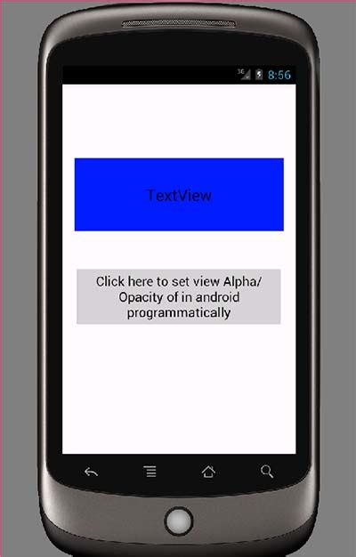 android layout opacity change view alpha opacity in android programmatically