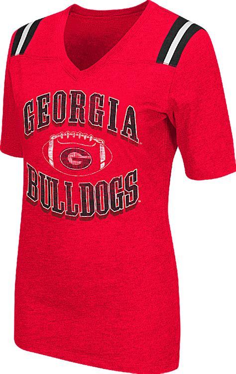 georgia bulldogs fan apparel ladies georgia bulldogs red artistic short sleeve t shirt