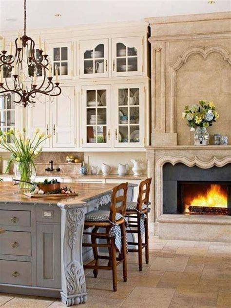 kitchen with fireplace designs french country kitchen with fireplace kitchens in white