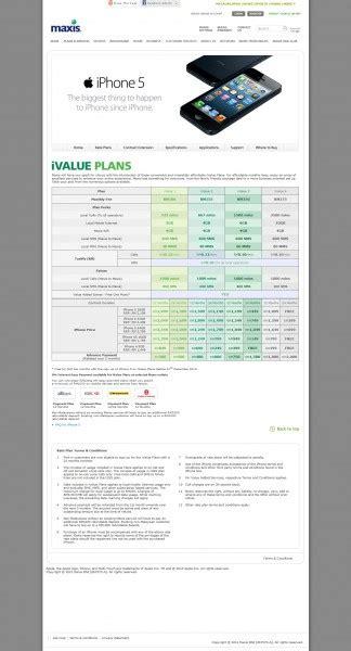 maxis iphone5 plans malaysianwireless