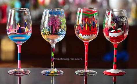 christmas patterned wine glasses christmas decorative handpainting with pattern wine glass