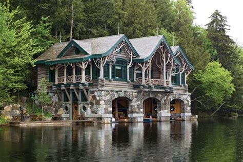 photos of unique riverside log homes