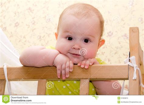 Baby In Crib Royalty Free Stock Photo Image 31809815 Baby Standing In Crib