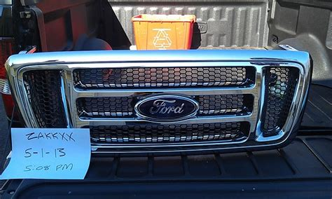 chrome h bar grill w surround and emblem f150online forums