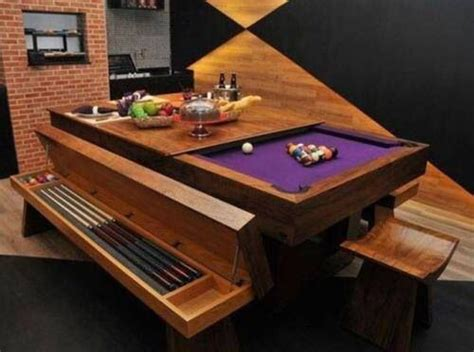 Dining Table Turns Into A Pool Table Home Ideas