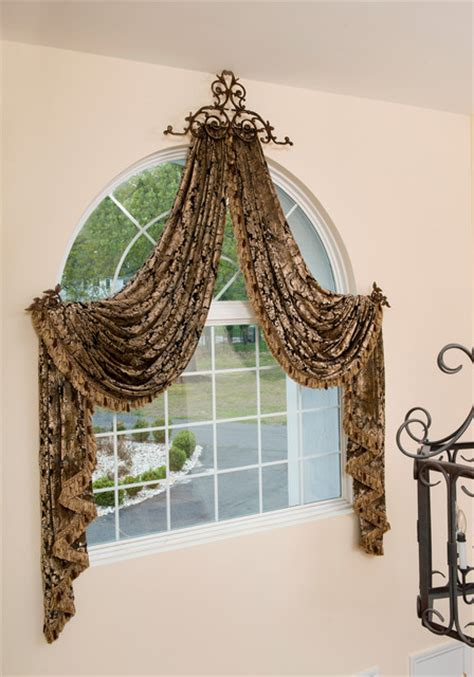Foyer Window Curtains Arched Window Treatments Two Story Foyer Traditional Curtains Other Metro By Marina