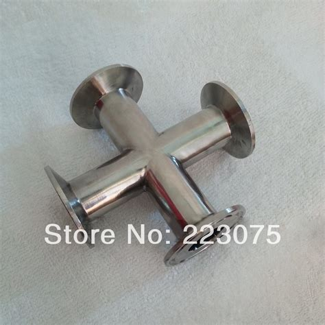 Sanitary Ss 304 Dia 6 new arrival stainless steel ss304 install od 38mm sanitary cl connection 4 ways same