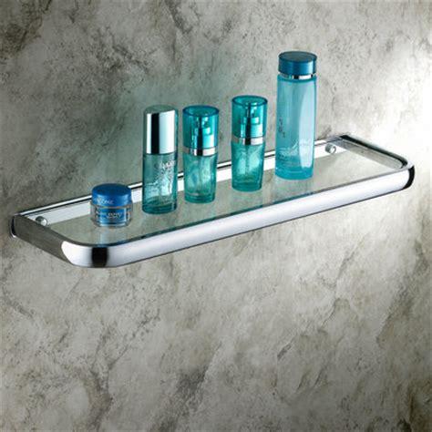 Tempered Glass Chrome Finish Wall Mount Bathroom Storage Shelf Towel Bar Ebay Antique Shelves Brass Material Bathroom Shelf Ab6050 Ab6050 163 34 99