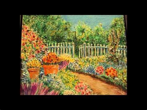 garden  flowers drawing  acrylic colors duc