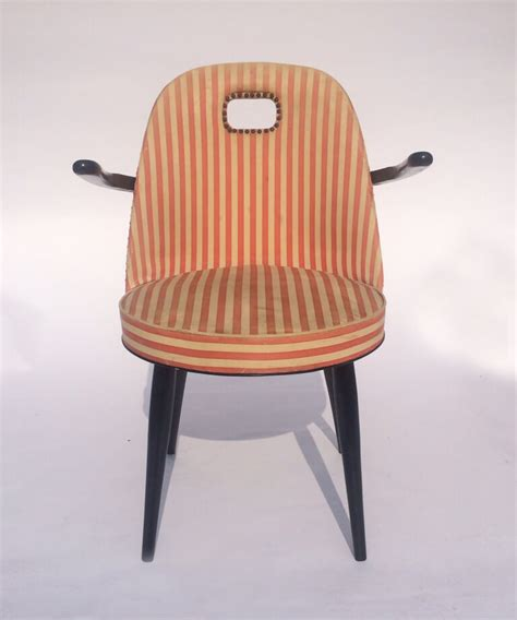striped armchairs mid century red and white striped armchairs galleria62