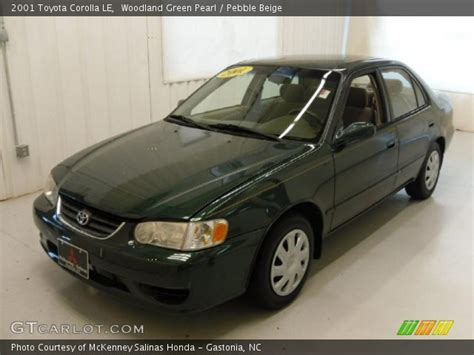 2001 Toyota Corolla Green Woodland Green Pearl 2001 Toyota Corolla Le Pebble