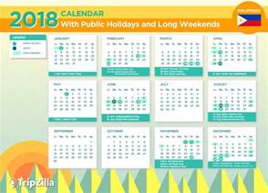 2018 Calendar Philippines With Holidays 13 Weekends In The Philippines In 2018