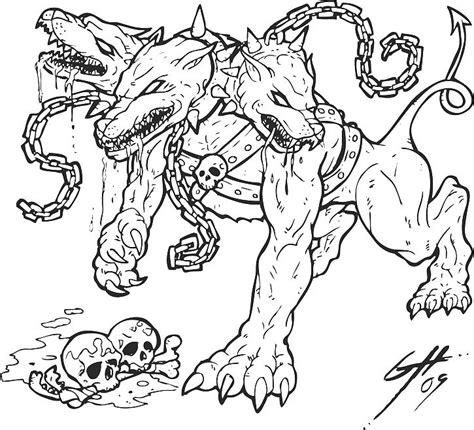 hellhound tattoo hellhound hellhound logo sketch rev3 by hellhound