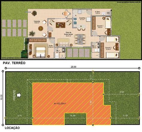 projetar casa projetar casas planta de casa t 233 rrea 2 quartos e 1