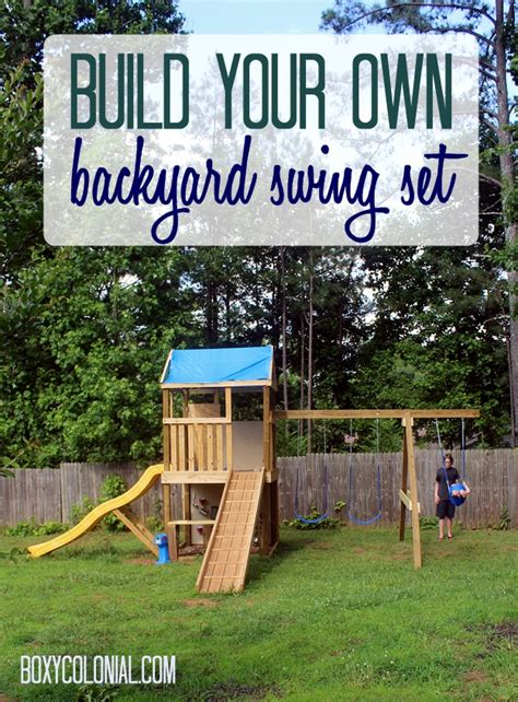 build own swing set diy backyard fire pit fire pit weekend revealed