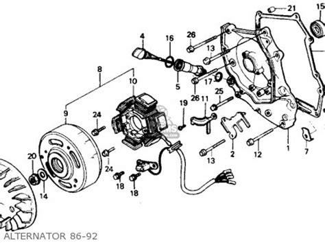 honda ch elite   usa parts list partsmanual partsfiche