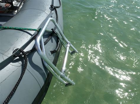 aluminum fishing boat ladder foldable swimming ladder for inflatable boats dinghy kaboat