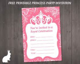 free princess invitation ruby and the rabbit princess princess