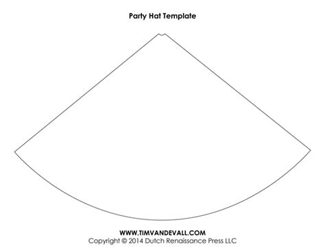 cone hat template free birthday hat template make your own hats