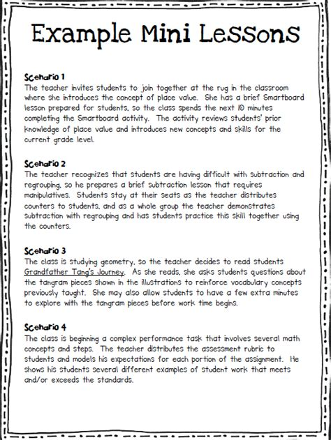 Mini Lesson Plan Template by Math Workshop In The Elementary Classroom Ashleigh S Education Journey
