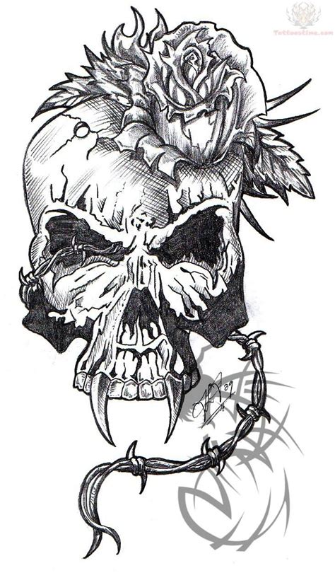 skulls and roses tattoo designs skull images designs