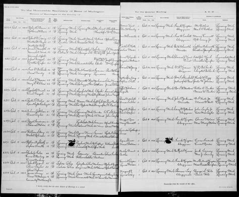 Ingham County Marriage Records Genealogy Data Page 49 Notes Pages