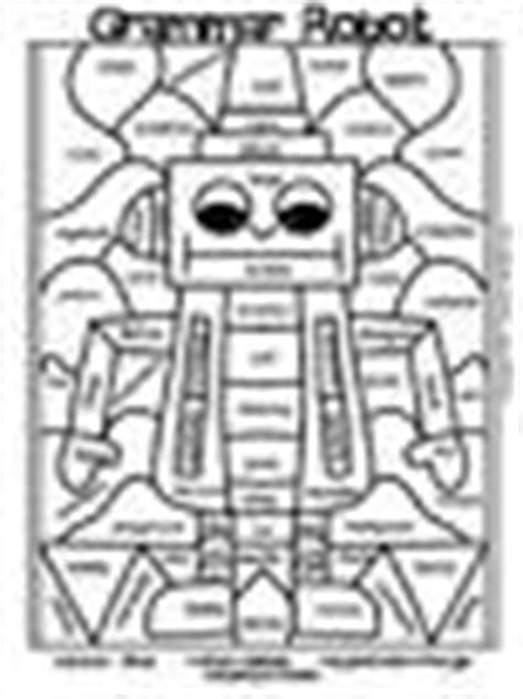 mosaic coloring pages for parts of speech paint by part grammar robots parts of speech grammar by