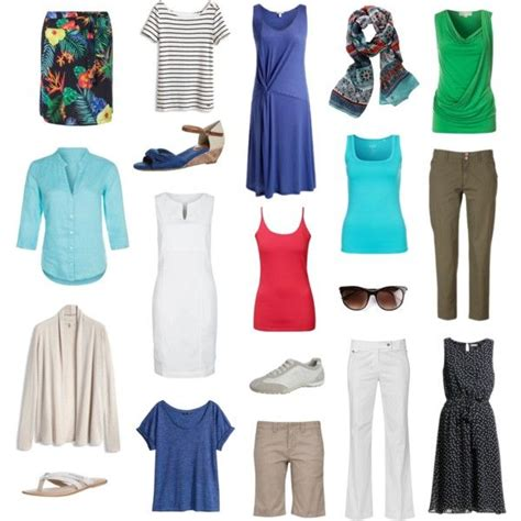 sporty classic summer wardrobe travel clothes for