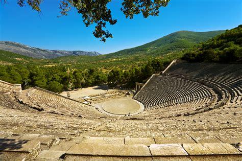 greek theatre ancient greece history of the ancient theater at epidaurus epidavros