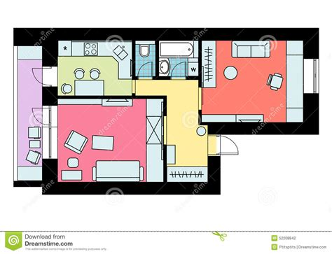 disposition de chambre le plan de la disposition de l appartement 224 une chambre