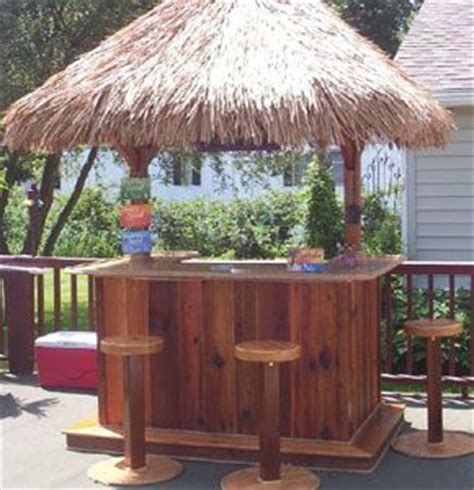 Build Your Own Tiki Bar Diy Outdoor Bar Plans Woodworking Projects Plans