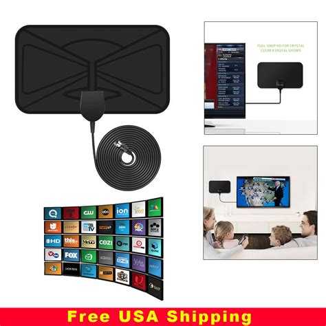 thin flat antenna hd high definition tv fox hdtv dtv lt scout style tvfox cable ebay