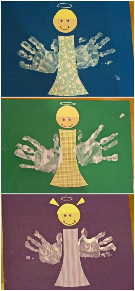 religious christmas crafts to make handprint kid s handprint footprint handprint tree and