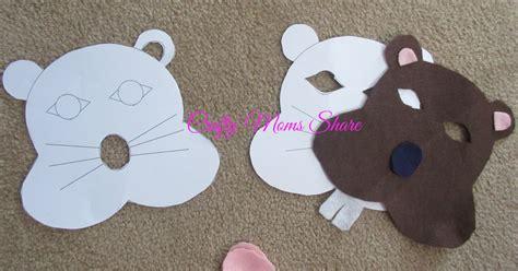 printable groundhog mask crafty moms share groundhog masks inspired by the wild