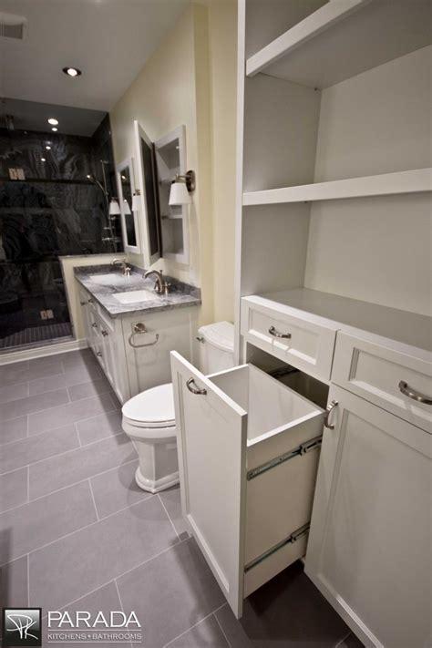 Custom Laundry basket pull out.   Bathroom Design Ideas