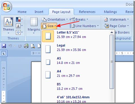 ukuran layout novel mengatur ukuran kertas pada ms office word 2007 2010