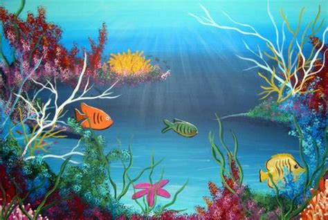 Acrylic Paint For Wall Murals undersea color explosion painting by barbie baughman