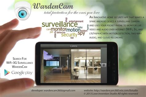smart home security wardencam 箘ndir android i 231 in