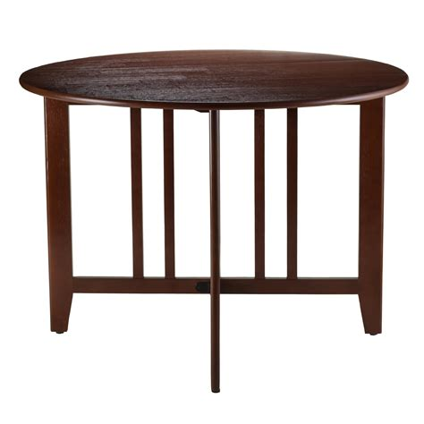 drop leaf dining set classic mission style dining room amazon com winsome wood alamo double drop leaf round